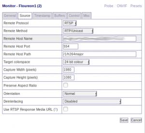 Zoneminder configuration for Floureon 1080P - Ogre's Lab